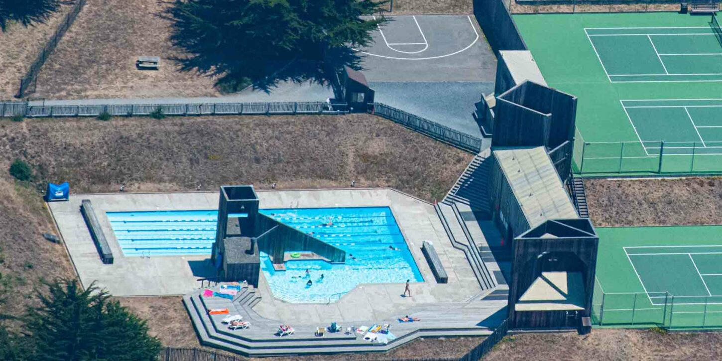 Aerial View of Ohlson Recreation Center by Craig Tooley